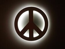 _____ Lighted PEACE sign _____ rock & roll WV wall art decor DECORATION - NEW