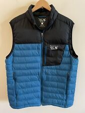 MOUNTAIN HARDWARE MENS QUILTED Down Puffy Vest 650 SIZE LARGE
