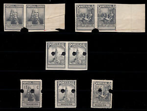 1925 Portugal Madeira Postal Tax - Marques Pombal PROOFs. No gum.