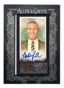 ANDY COHEN 2020 Topps Allen & Ginter Mini Framed Auto /10