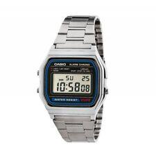 Casio Mens Alarm Chrono A158WA-1 Silver Stainless Steel Digital Watch