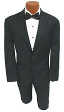 Men's Black Calvin Klein Tuxedo Jacket with Chalk Stripe Formal Wedding Prom
