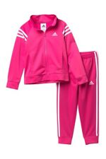 NWT TODDLER GIRL KIDS ADIDAS AG4330 EVENT TRICOT JACKET & PANT SET TRACKSUIT