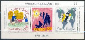 Sweden 1985 Children, International Youth Year, Minisheet, UNM / MNH