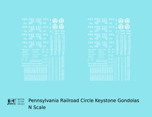 K4 N Decals Pennsylvania Railroad Gondola White Circle Keystone