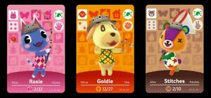 Bustina 3 Carte Amiibo Goldie + Stitches + Rosie Promo Pack Animal Crossing Card