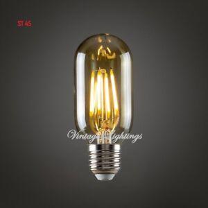 ST45 Vintage LED Bulb Filament Antique Industrial Edison Light E27 B22 Pack Of 4