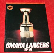 OMAHA LANCERS USHL HOCKEY 1990 - 1991 GAME PROGRAM - AKSARBEN COLOSSEUM