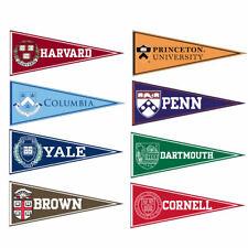 9 Ivy League Felt Pennants Penn Princeton Harvard Yale Cornell Rutgers Columbia