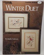 Winter Duet Cross Stitch 2 Patterns Leaflet 570 Birds Cardinals Chickadees