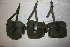 US Military Issue Vietnam Era M16 AR15 Rifle Ammunition Magazine Pouch Lot of 3