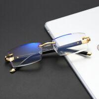 Rimless Reading Glasses Anti Blue Light Lens Computer Presbyopic Eyeglasses