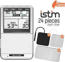 Istim EV-805 EMS Tens combo 4 Channel Rechargeable electric therapy Machine