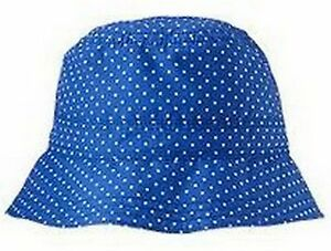BABY GAP GIRL BLUE POLKA DOT SUMMER HAT NWT