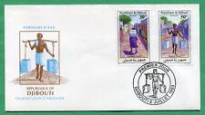 Djibouti 1993 Mi. 584-585 Porteurs d'eau FDC Premier Jour