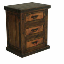 Dark Wood Tone Bedside Tables