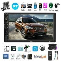 "2 DIN 7"" Car Stereo Touch Screen MP5 Player BT AUX FM Radio Audio Head Unit +Cam"