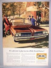 Pontiac Bonneville Vista PRINT AD - 1960 ~~ 1961 model