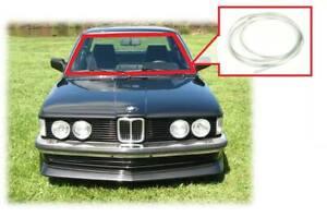 BMW E21 320 Windshield Moulding Chrome outside window trim & chrome connector