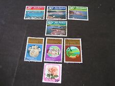 NEW ZEALAND, SCOTT # 711-714(4)+715-717(3)+718, COMPLETE SETS 1980 HARBORS USED
