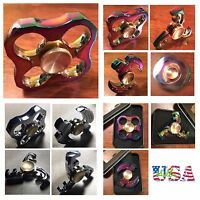 Hand Spinner HEAVY METAL Tri Fidget Stress Reducer ADHD Autism Desk Toy EDC 3-4M