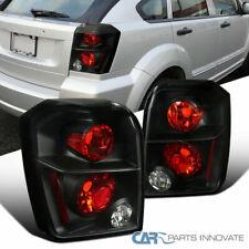 Dodge 07-12 Caliber Black Park Tail Lights Reverse Brake Rear Lamps Left+Right