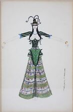 LINCOLN KIRSTEIN-NYC Ballet Founder-Original Signed Mixed Media-Costume Design