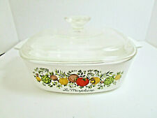 Corning Ware Spice Of Life 5 Quart Dutch Oven Casserole Baking Dish With Lid.