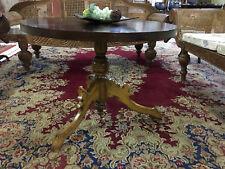 Mesa mesa redonda de madera maciza madera mesa clásico barroco figura sofá mesa