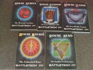 Battletech House books Liao Davion Marik Steiner Kurita