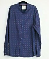 Maxx Men's Blue Long Sleeve Button Down Shirt Size XXXL
