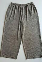 MY SIZE Grey/Cream Marle Stretch Knit Wide Legged Pants Size M