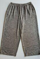 MY SIZE Grey/Cream Marle Stretch Knit Wide Legged Pants Size M