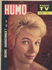 HUMO 1037 (21/7/60) MONIQUE DELVAUX GEORGES BRASSENS BECAUD JACQUELINE BOYER