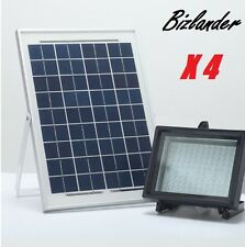 4 X Bizlander Commercial108 LED Solar Light for Home Garden Business Sign Park