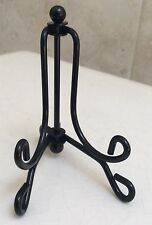Folding Tabletop Easel Glossy Black Sy Metal For Small Plates 1 8 Wire