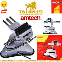AMTECH Rotating SUCTION TABLE VICE Bench Top Swivel Workshop JAW Clamp Holder UK