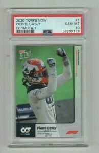 2020 Topps Now Pierre Gasly Formula 1 F1 1st Victory at Monza #1 PSA 10 GEM 0179