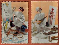 2x Cartes Postales dentelées - Poupées Roldan -  Photochrom - -A.82