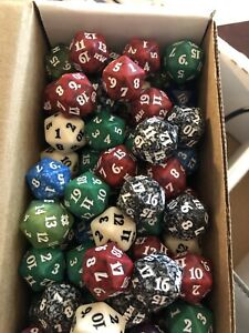 Lot Of Spin Down 20 Sided Dice D20 Magic The Gathering MTG Cards
