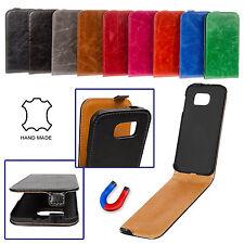 Unifarbene Handy-Schutzhüllen aus Leder für Huawei