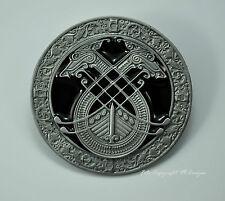 * Mittelalter Gürtelschnalle Belt Buckle Kelten Lyra Odin Thor Mythologie *212