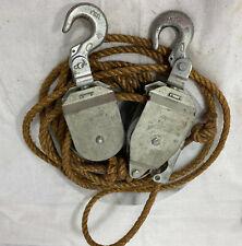 Mini Mule Rh 600 Rope Hoist With 21 Half Inch Natural Fiber Corded Rope