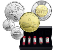 2017 Canada Classic Designs Special Wrap Roll Set Coins 5¢ 10¢ 25¢ $1 $2