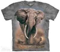 African Elephant T-Shirt by The Mountain. Wild Elephant Sizes S-5XL NEW