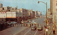 SOUTH BEND IN 1955 Michigan Avenue Street Scene with People, Stores & Old Cars