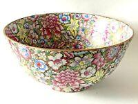"""Japanese Famille Rose Large 12""""  Porcelain Bowl Gold Gilt Enamel/Floral,  Marked"""