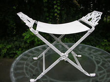 1920-30's Decorative Steel with Cast Iron Gargoyle Armed Seat/Bench