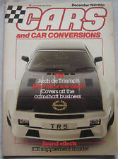 Cars & Car Conversions magazine 12/1981 featuring Triumph TRS