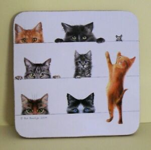 Baytree Cats - set of 4 Cork Backed Coasters